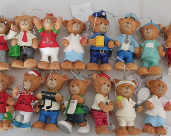 Russ Berrie Christmas Ornament-  Lot of 15- Teacher Ornament- # 1 Dad, Doctor Ornament, Nurse Ornament- Niece Ornament- Nephew Ornament-