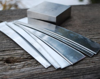 Strip Aluminum 1 x 6  inch Aluminum Stamping Blanks-Soft Strike Aluminum -20 gauge- Pick Your Qty.