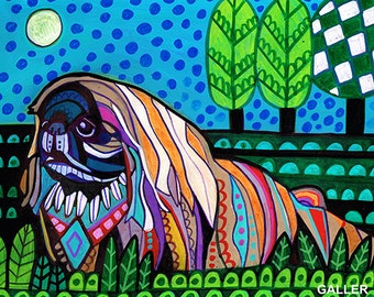 Pekingese Art dog Poster Print of painting by Heather Galler (HG750)