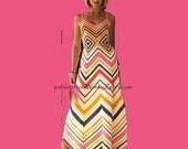 Zig Zag Dress by Mon Tricot Crochet Pattern PDF 657 from WonkyZebra