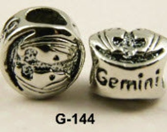 Gemini - European Big Hole Charm