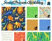 Custom Crib Bedding You Design   Bumper and Bedskirt in Origami Grass