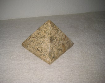 Vintage Paperweight in Pyramid Shape