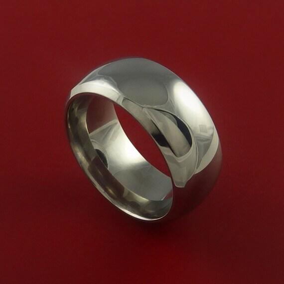 Titanium Wide Wedding Band Unisex Engagement Rings Made to Any Sizing 3-22