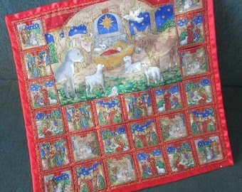 Nativity Advent Calendar, Nativity Scene, Christmas Advent Calendar, Traditional Christmas, Story of Christmas, Jesus, Mary and Joesph