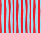 Robert Kaufman Dr. Seuss Aqua Stripe Fabric 1 yard