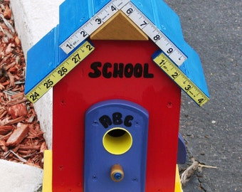 School House Birdhouse  BUILT TO ORDER