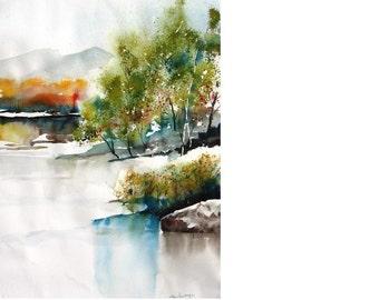 Bosque Colors II - Original Watercolor Painting