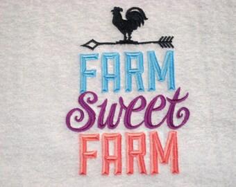 Farm Swee Farm Embroidered Towel
