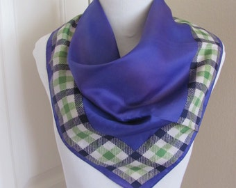 "Lovely Purple Acetate Glentex Scarf - 22"" Inch Square"
