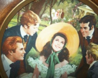 vintage picture in round frame