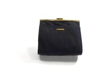 Vintage Navy Blue Liz Handbag