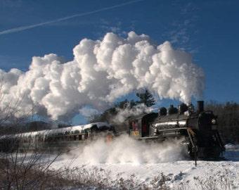 Steam Locomotive, Train Rides, Train Wall Decor, Snow Train, Winter Photographs, Boys Room Decor, Train Enthusiast, Riding the Rails, Office