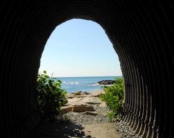 Newport's Cliff Walk, Tunnel, Ocean View,  New England Coast, Picturesque Walk, Coastal Home Decor, Beach Home Art, Casual Decor, Cottage