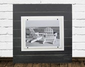 11x14 Big Black Wood Plank Frame 2X2