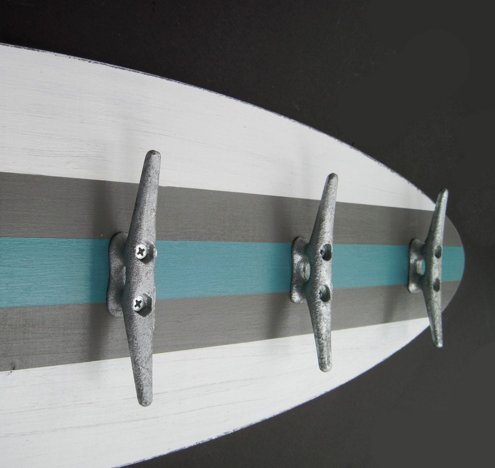 3 Ft Surfboard Coat Rack With 5 Boat Cleats
