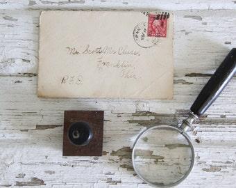 vintage letterpress hand stamp ink print block alphabet letter G