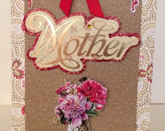 Mother, Mothers Day cards, Birthday cards, Anniversary cards, I Love You card, roses, bow, 3d cards