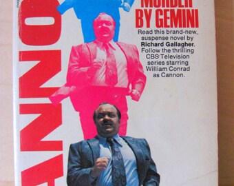 Vintage Paperback Book Cannon Murder By Gemini Richard Gallagher William Conrad Pulp Fiction Novel Crime Murder Mystery Suspense Detective