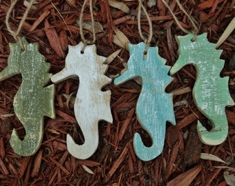 25 Seahorse Wedding Favors, Gift Tags, Ornaments, Tropical Decor