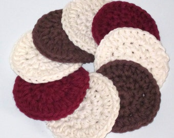 Cotton Facial Scrubbies -  Set of 8