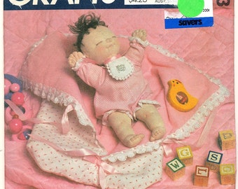 Baby Puppet Doll Pattern McCall's 9373