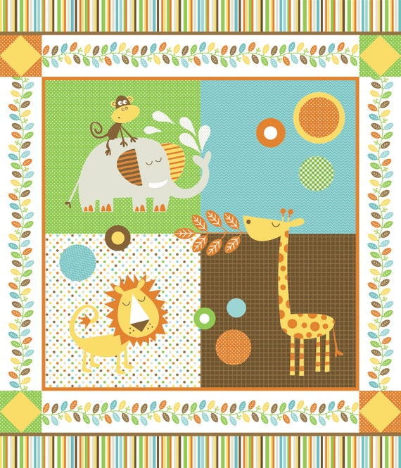 Unavailable listing on etsy for Childrens jungle print fabric