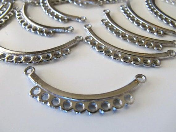 jewelry connectors silver tone multi strand tibetan style