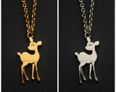 Gold & Silver Bambi Necklace
