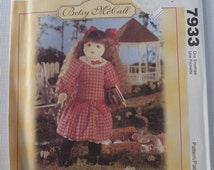 Betsy McCall 18 inch Doll and Clothes UNCUT McCalls Pattern 7933