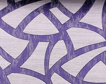 Custom Curtains in Sapphire in Geometric Pattern One Panel Custom sizes available