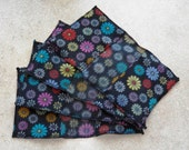 Fleece Swiffer Sweeper Pad- Colorful Flowers on Black