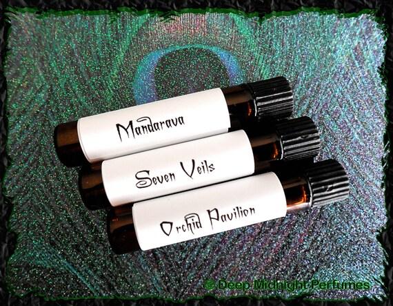 Exotic Girls Perfume Sampler Set - Set of Three Vials - Exotic Perfume - Fantasy Perfume