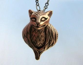 Cat owl pendant