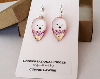Wonderful, Whimsical, WESTIE earrings