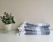 White Blue Stripe Head Hand Towel Face Towel Kitchen Towel Peshkir Organic Towel CottonTowel Eco-Friendly Towel Men Women Towel