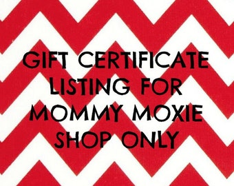 71 Dollar Gift Certificate for Mommy Moxie shop- Hospital Maternity Gowns, Receiving Blankets and more on Etsy