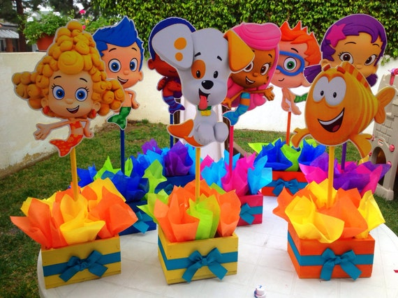 Bubble guppies set cake ideas and designs - Bubble guppies center pieces ...
