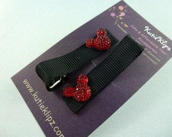 SALE NeW -  Mickey Mouse Princess Hair Clips, Hairclip, Hair Bow, Hairbow, Hair Accessory, M2M Disney