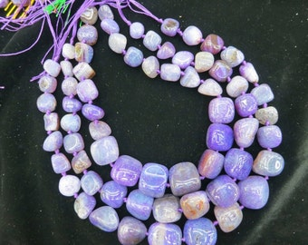 Amethyst Purple Agate nugget beads 15x20-8x12mm- 22pcs/strand