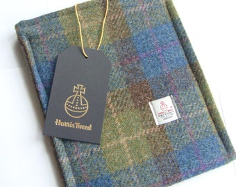 Harris tweed iPad mini case cover sleeve made in Scotland gift men women boys girls Scottish tartan