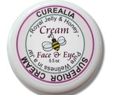 Superior Cream/Lotion with pure fresh Royal Jelly and Honey - Face & Eye -  1 oz