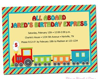 PRINTABLE Birthday Express Party Invitations #507