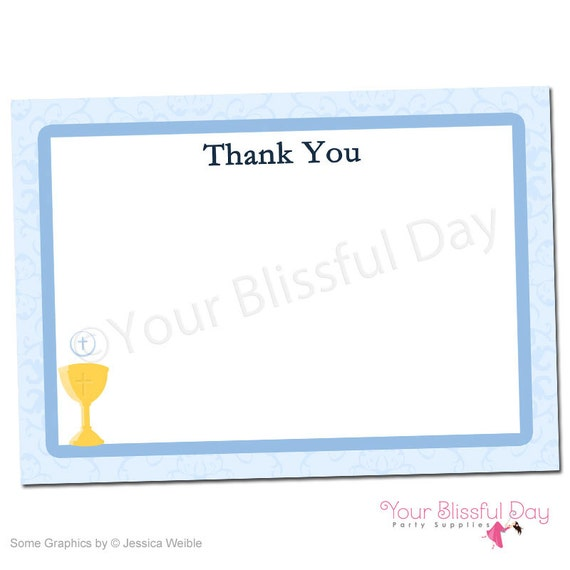 PRINTABLE First Communion Thank You Cards #602