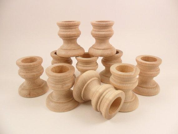 8 wood candlesticks 1 7 8 unfinished wood candlesticks - Unfinished wood candlestick holders ...