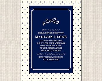 DOTTED BOW Invitation - DEPOSIT