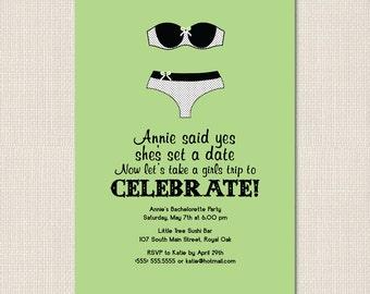 LINGERIE Ladies NIGHT Bachelorette Party Invite - DEPOSIT