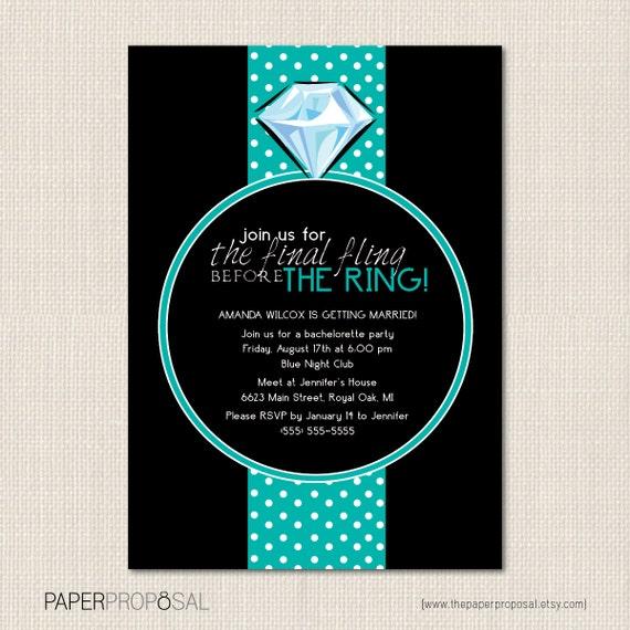 FINAL FLING Bachelorette Party Invitations - DEPOSIT