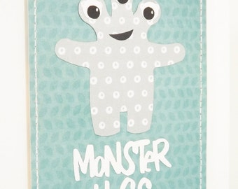 Monster Hugs Card for Get Well or I Love You