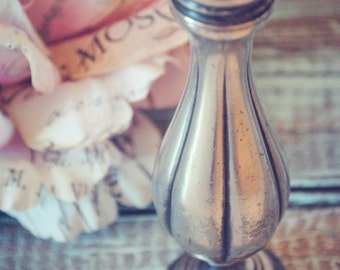 Old Silver Tarnished and Tattered Pepper Shaker